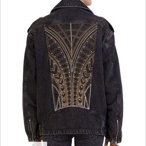 The kooples beaded denim Moro jacket